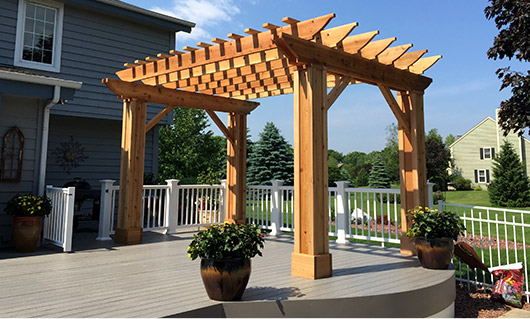 Custom Desk and Pergola